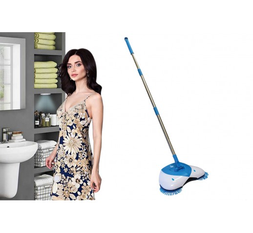 Lightweight and Easy to Use Spin Broom