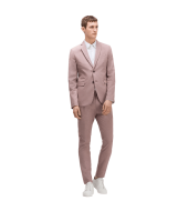 Textured suit, classic button fastening